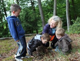 Children playing at the Forest School in Wheeler End, Bucks