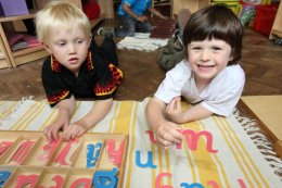 Learning at Montessori Nursery in Wheeler End, Bucks