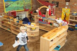 Montessori nursery classroom environment