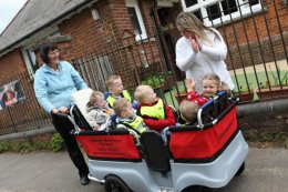 Buggy bus at Montessori Nursery in Wheeler End, Bucks