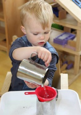 Child at Montessori nursery in Wheeler End