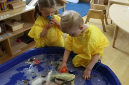 Children playing at Sunshine Montessori nursery in Wheeler End, Bucks